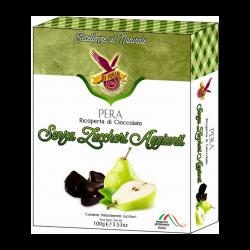 Di Iorio- Pear Dehydrated Slice of Fruit Dark Chocolate Coated   100gr / 3,53 Oz