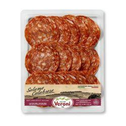 VERONI - Pre-Sliced Salame Calabrese - Hot & Spicy Salame    4 Oz