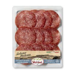 VERONI - Pre-Sliced Salame Milano - Mild Salame with Garlic & Pepper    4 Oz