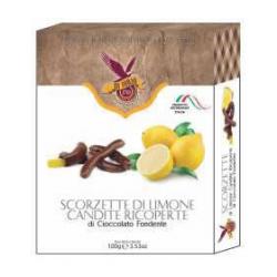 Candied Lemon Zest- Dark Chocolate Coated