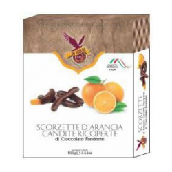 Candied Orange Zest - Dark Chocolate Coated