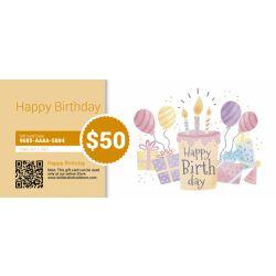 Happy Birthday - E-Gift Card