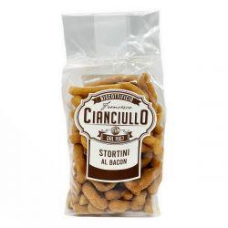 Cianciullo - Stortini al Bacon - Fried Bacon Taralli (200 gr / 7.05 Oz)