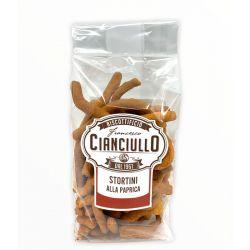 Cianciullo - Stortini alla Paprika - Fried Paprika Taralli (200 gr / 7.05 Oz)