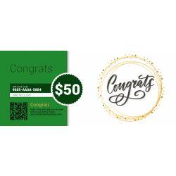 Congrats - E-Gift Card