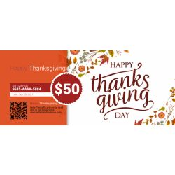 Happy Thanksgiving - E-Gift Card