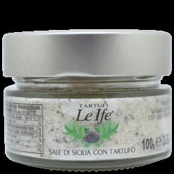 Tartufi Le Ife - Sicily Salt with Black Truffle - 100 gr / 3.52 Oz