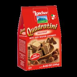 Loacker- Hazelnut Quadratini Wafers    8,8 Oz
