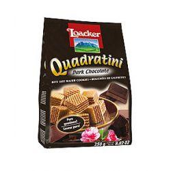 Loacker- Dark Chocolate     8,8 Oz