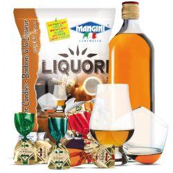 Mangini - Caramelle al Liquore - Liquor Candies (150 gr - 5.29 Oz )