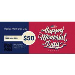 Memorial Day - E-Gift Card