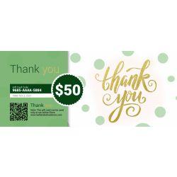 Thank you - E-Gift Card
