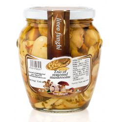 La Cerignola di una volta - Trio of Seasoned Mushrooms in Sunflower Seed Oil - 580 ml - 19,40 oz