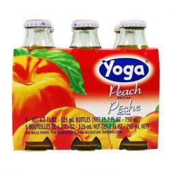 Yoga Peach Juice - 6 bottles (6 x 125 ml - 4.2 fl oz)